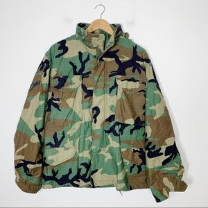 US AIR FORCE authentic woodland camo field jacket